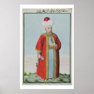 Amurath Murad II 1404-51 Sultan 1421-51 from Print