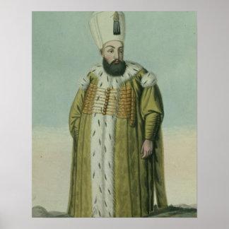 Amurath (Murad) III (1546-95) Sultan 1574-95, from Poster