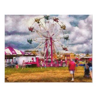 Amusement - Ferris Wheel Fun 11 Cm X 14 Cm Invitation Card