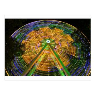 Amusement Ferris Wheel Postcard