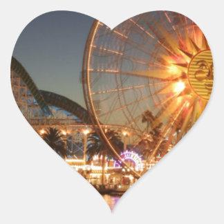 Amusement Park Lights Heart Sticker