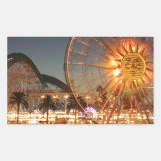 Amusement Park Lights Rectangular Sticker