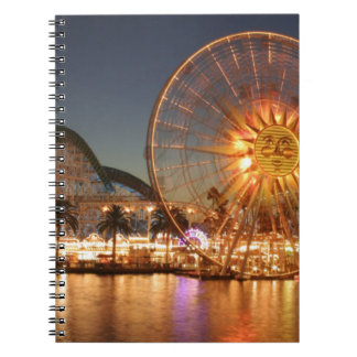 Amusement Park Lights Spiral Note Book