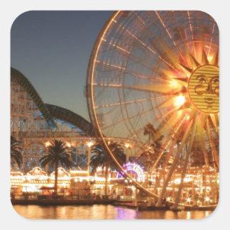 Amusement Park Lights Square Sticker