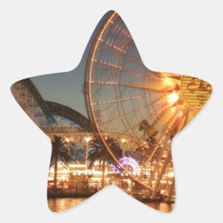 Amusement Park Lights Star Sticker
