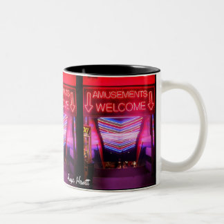 Amusements Welcome Mug by Angie Hewitt