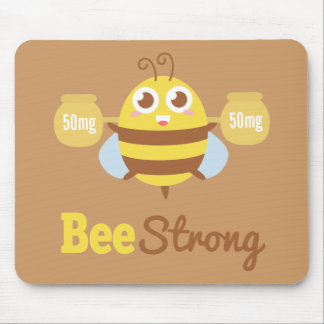 Amusing Cartoon: Cute bee holding pots Mouse Pad