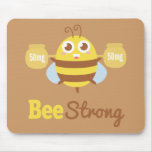 Amusing Cartoon: Cute bee holding pots Mousepads