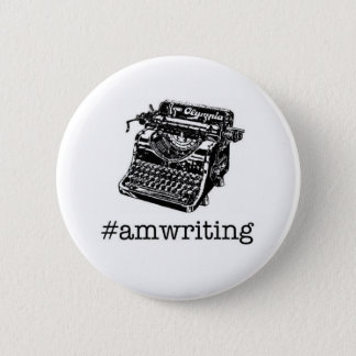 #amwriting 6 cm round badge