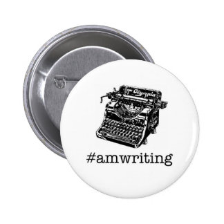 #amwriting 6 cm round badge