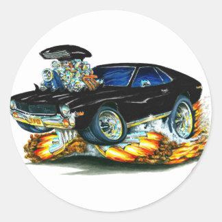 AMX Black Car Classic Round Sticker