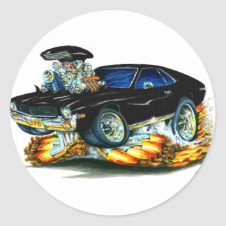 AMX Black Car Round Sticker