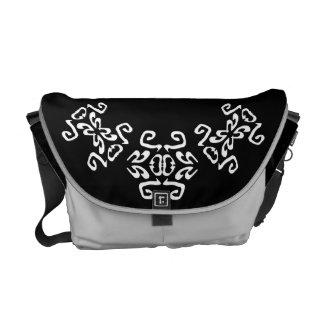 Amy Black & White Scrolls Classy Commuter Bag