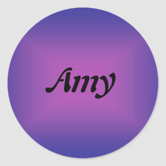 Amy Classic Round Sticker