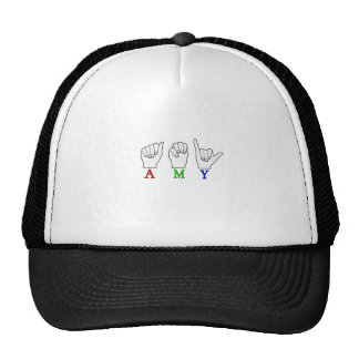 AMY NAME ASL FINGERSPELLED SIGN CAP