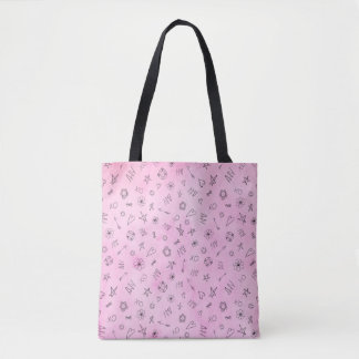 Amy Personalized Name pink watercolor pattern Tote Bag