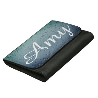 Amy raindrops wallet - blue