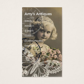 Amy's Antiques Business Card