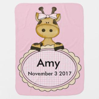 Amy's Personalized Giraffe Baby Blanket