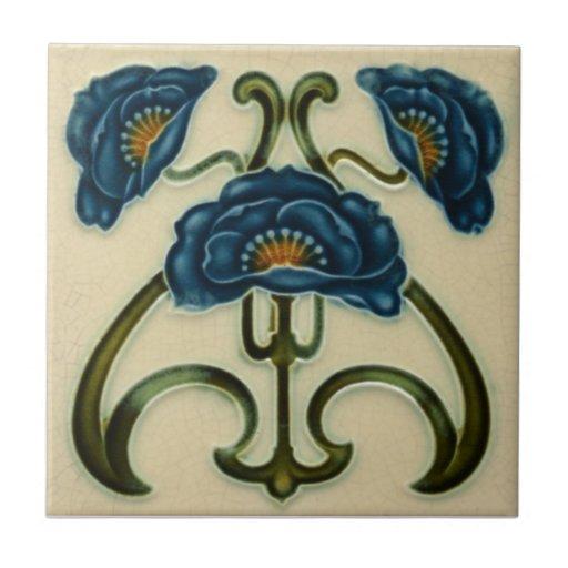 AN003 Art Nouveau Reproduction Antique Tile