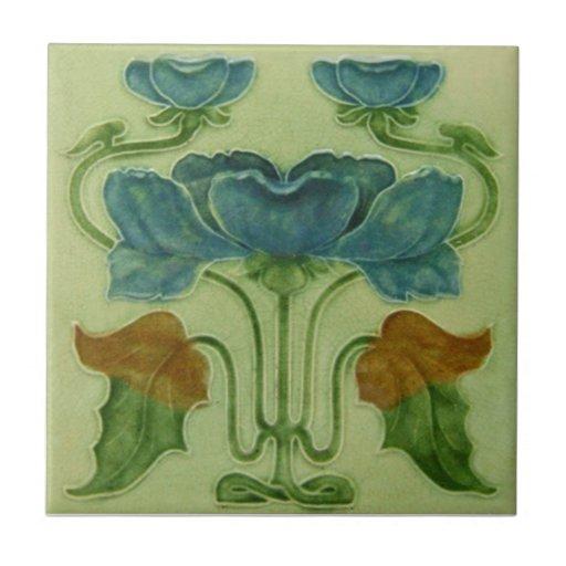 AN029 Art Nouveau Reproduction Antique Tile