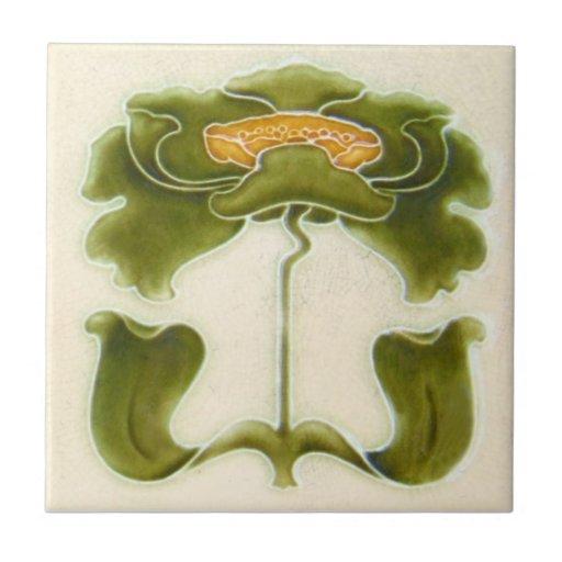 AN055 Art Nouveau Reproduction Antique Tile