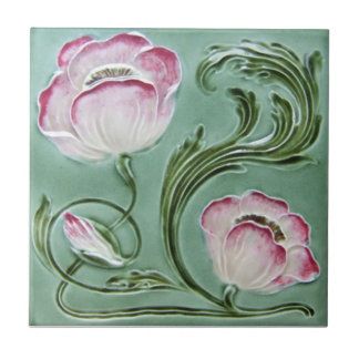 AN075 Art Nouveau Reproduction Antique Tile