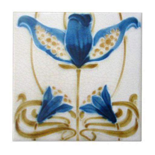 AN114 Art Nouveau Reproduction Antique Tile