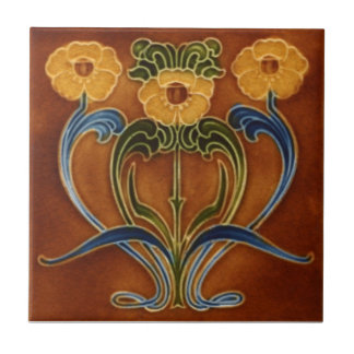 AN119 Art Nouveau Reproduction Antique Tile