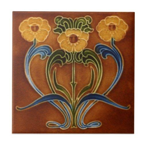 AN119 Art Nouveau Reproduction Antique Tile