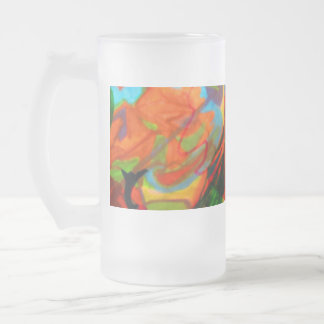 An abstract image. frosted glass beer mug