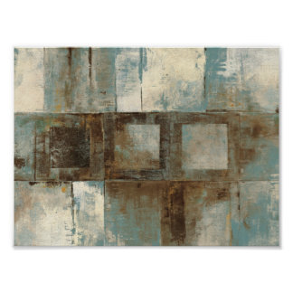 An Abstract in Blue and Brown Poster