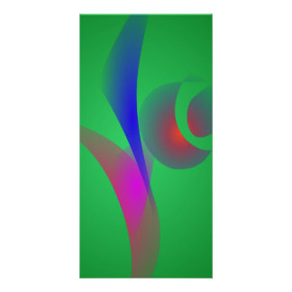 An Abstract Rose Personalized Photo Card