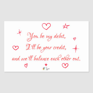 An Accountant in Love Poem Sticker