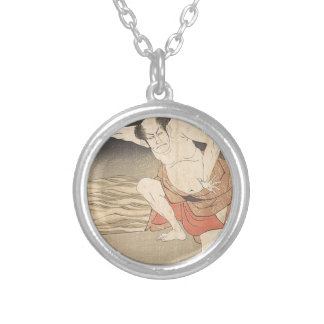 An Actor Beside Water Silver Plated Necklace