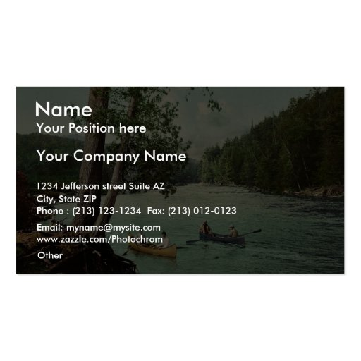 An Adirondack mountain stream classic Photochrom Business Card