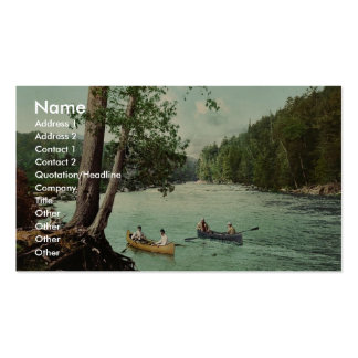 An Adirondack mountain stream classic Photochrom Pack Of Standard Business Cards