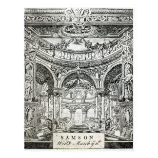 An Admission Ticket for Handel's oratorio Postcard
