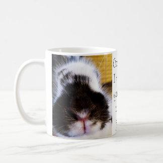 An adorable bunny mug with a mistaken idea