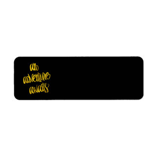 An Adventure Awaits Quote Gold Faux Foil Quotes Return Address Label