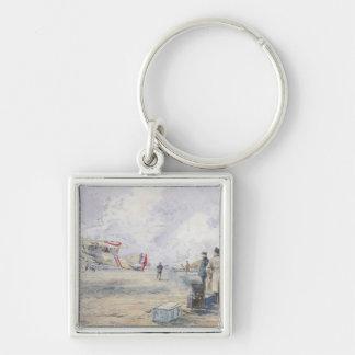 An Aeroplane Taking Off, 1913 Key Chain