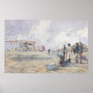 An Aeroplane Taking Off, 1913 Poster