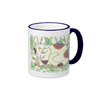 An Afternoon Catnip Break for the Rainbow Neko Ringer Mug