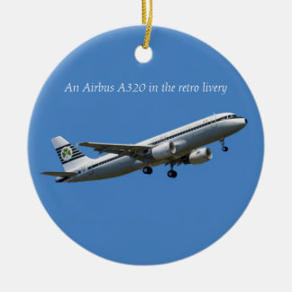 An Airbus A320 for Circle Ornament