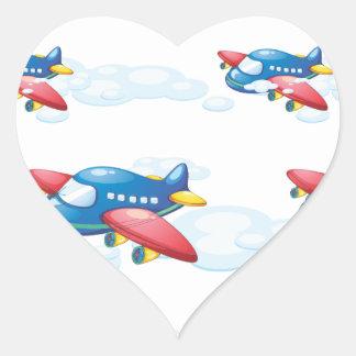 an airplane heart sticker