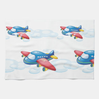 an airplane towel