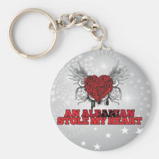 An Albanian Stole my Heart Key Ring