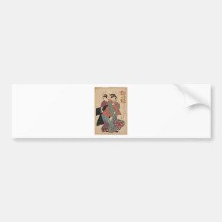 An allegory of Komachi visiting by Keisai Eisen Bumper Sticker