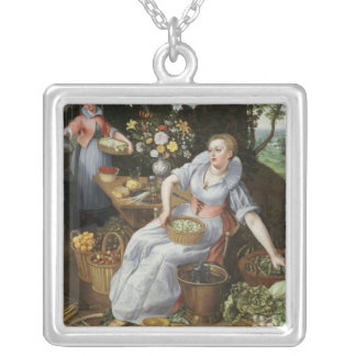 An Allegory of Summer Silver Plated Necklace