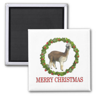 An Alpaca Merry Christmas Refrigerator Magnets